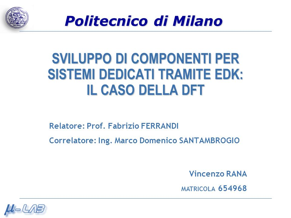 Vincenzo Rana Registri in fase di ingresso