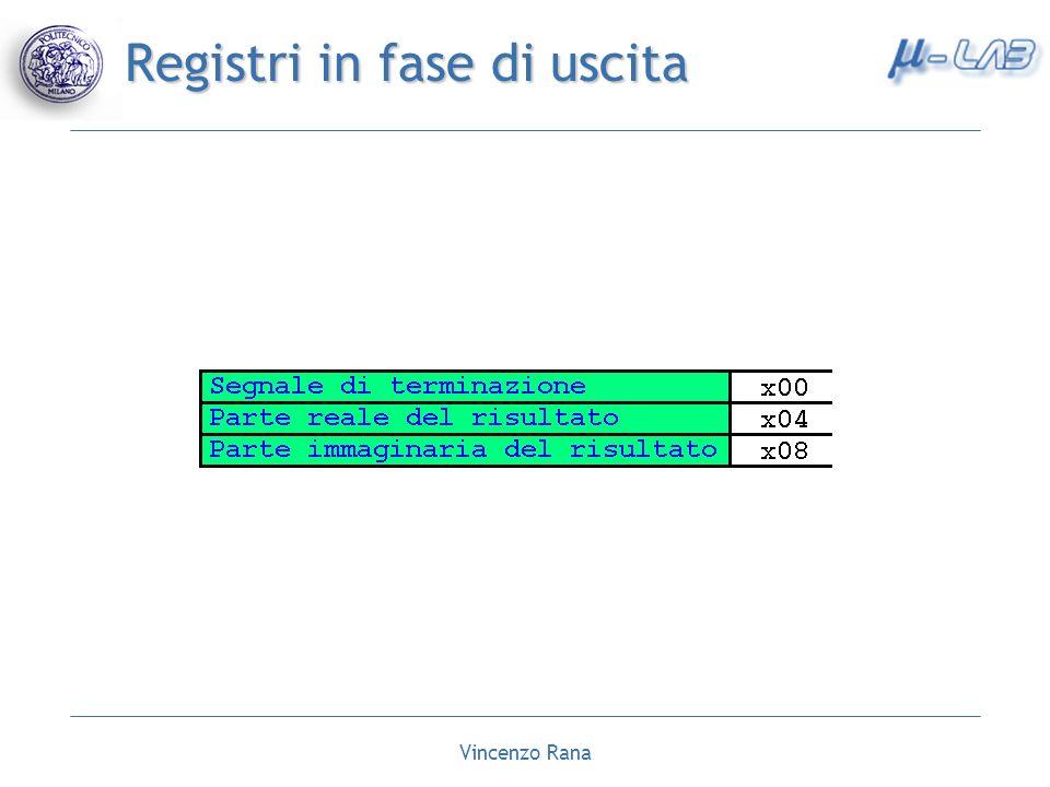 Vincenzo Rana Registri in fase di uscita