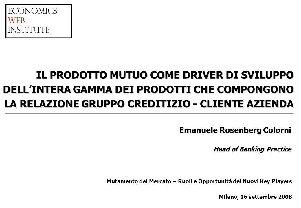 Mutamento del Mercato – Ruoli e Opportunità dei Nuovi Key Players Milano, 16 settembre 2008 Emanuele Rosenberg Colorni Head of Banking Practice IL PRO