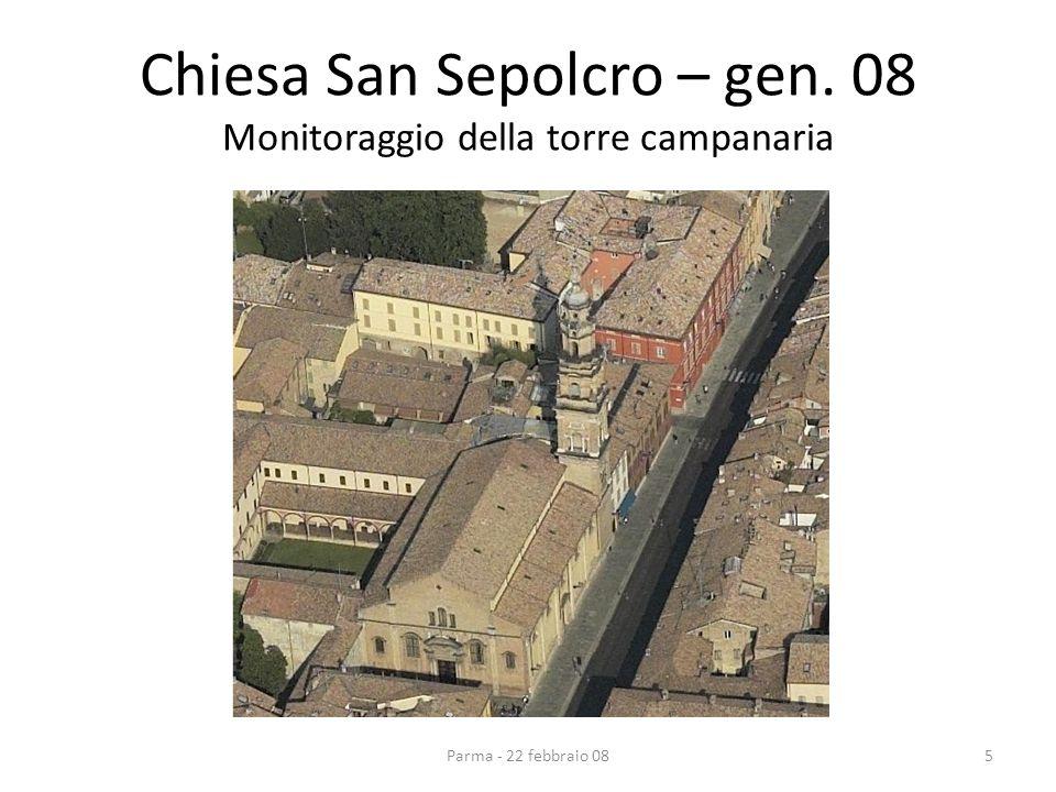 Chiesa San Sepolcro – gen. 08 Monitoraggio della torre campanaria 5Parma - 22 febbraio 08