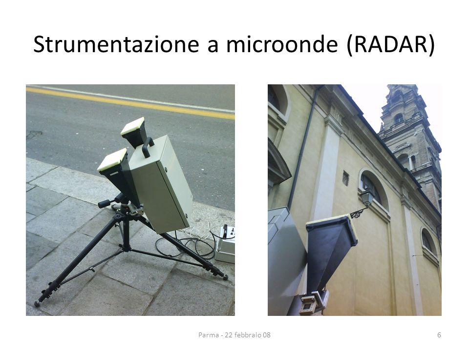 Strumentazione a microonde (RADAR) 6Parma - 22 febbraio 08