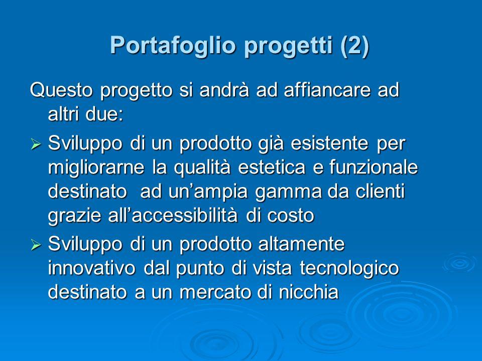 Questo progetto si andrà ad affiancare ad altri due: Sviluppo di un prodotto già esistente per migliorarne la qualità estetica e funzionale destinato