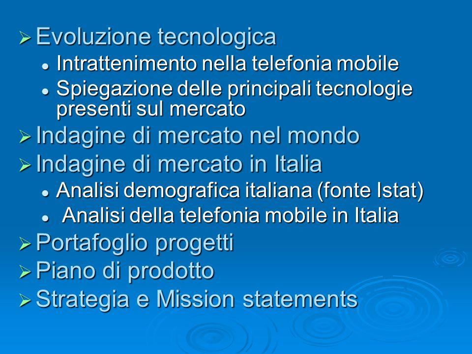 Evoluzione tecnologica Evoluzione tecnologica Intrattenimento nella telefonia mobile Intrattenimento nella telefonia mobile Spiegazione delle principa