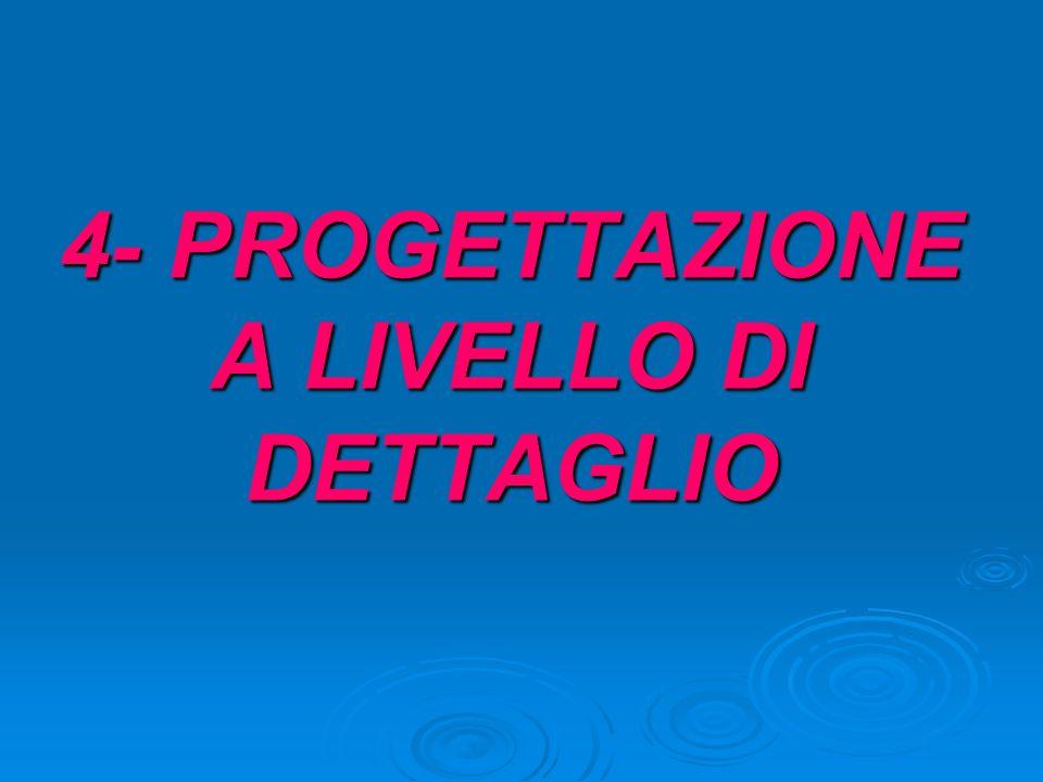 4- PROGETTAZIONE A LIVELLO DI DETTAGLIO