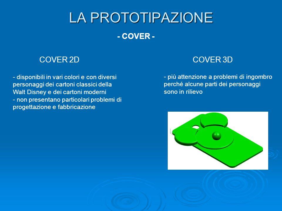 LA PROTOTIPAZIONE - COVER - COVER 2DCOVER 3D - disponibili in vari colori e con diversi personaggi dei cartoni classici della Walt Disney e dei carton