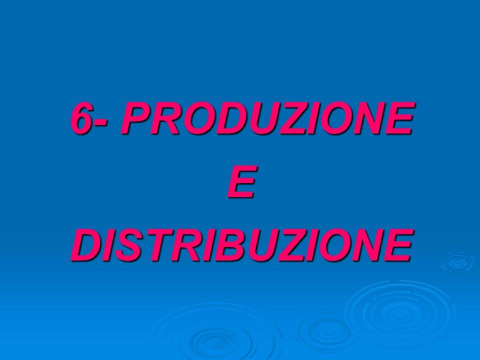 6- PRODUZIONE EDISTRIBUZIONE