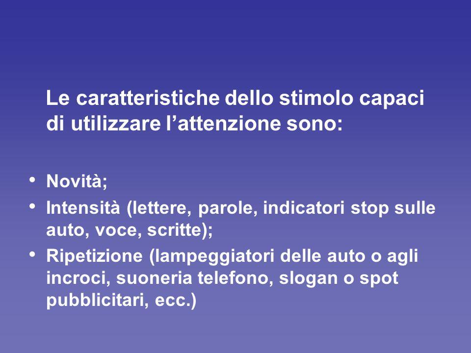 LIVELLI DI NORMALE SVILUPPO DELLATTENZIONE (Jones, 1994).