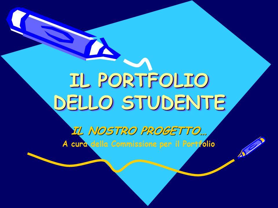 IL PORTFOLIO DELLO STUDENTE IL NOSTRO PROGETTO… A cura della Commissione per il Portfolio