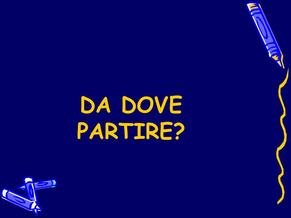 DA DOVE PARTIRE?