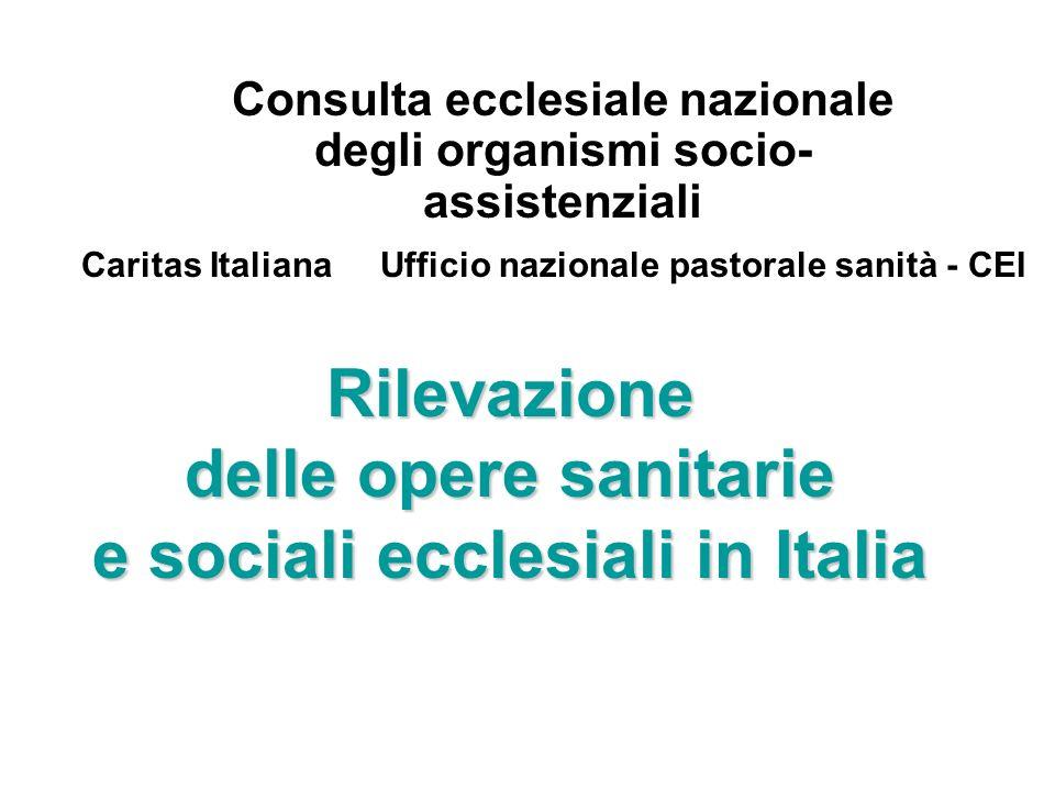 Rilevazione delle opere sanitarie e sociali ecclesiali in Italia Consulta ecclesiale nazionale degli organismi socio- assistenziali Caritas ItalianaUf