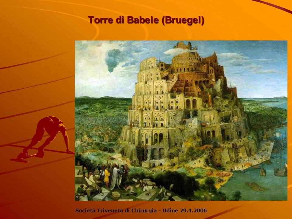 Torre di Babele (Bruegel) Società Triveneta di Chirurgia - Udine 29.4.2006