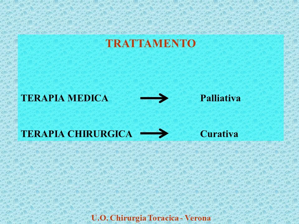 TRATTAMENTO TERAPIA MEDICAPalliativa TERAPIA CHIRURGICACurativa U.O. Chirurgia Toracica - Verona