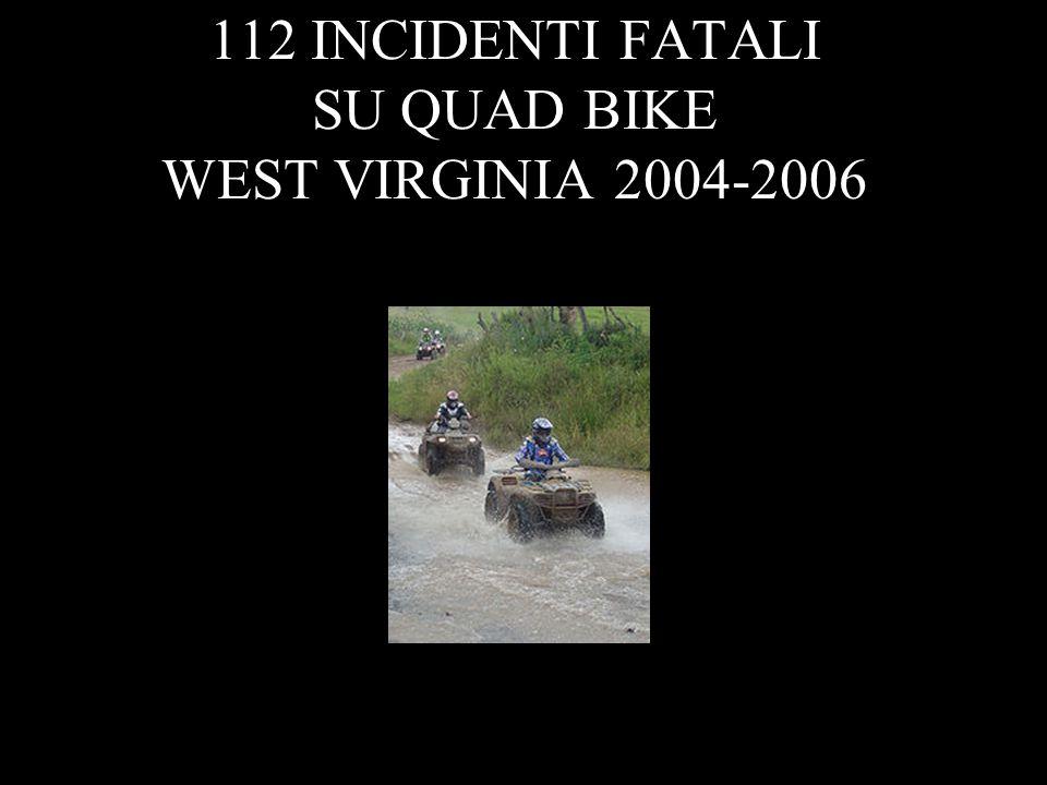 11 112 INCIDENTI FATALI SU QUAD BIKE WEST VIRGINIA 2004-2006