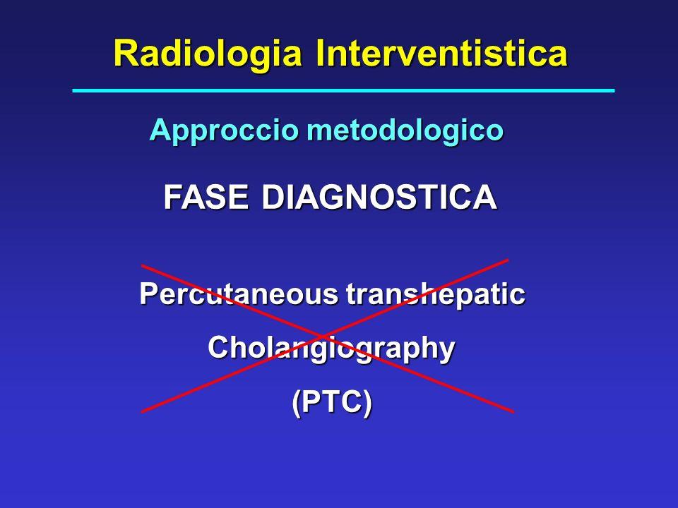 Radiologia Interventistica Approccio metodologico Percutaneous transhepatic Cholangiography(PTC) FASE DIAGNOSTICA