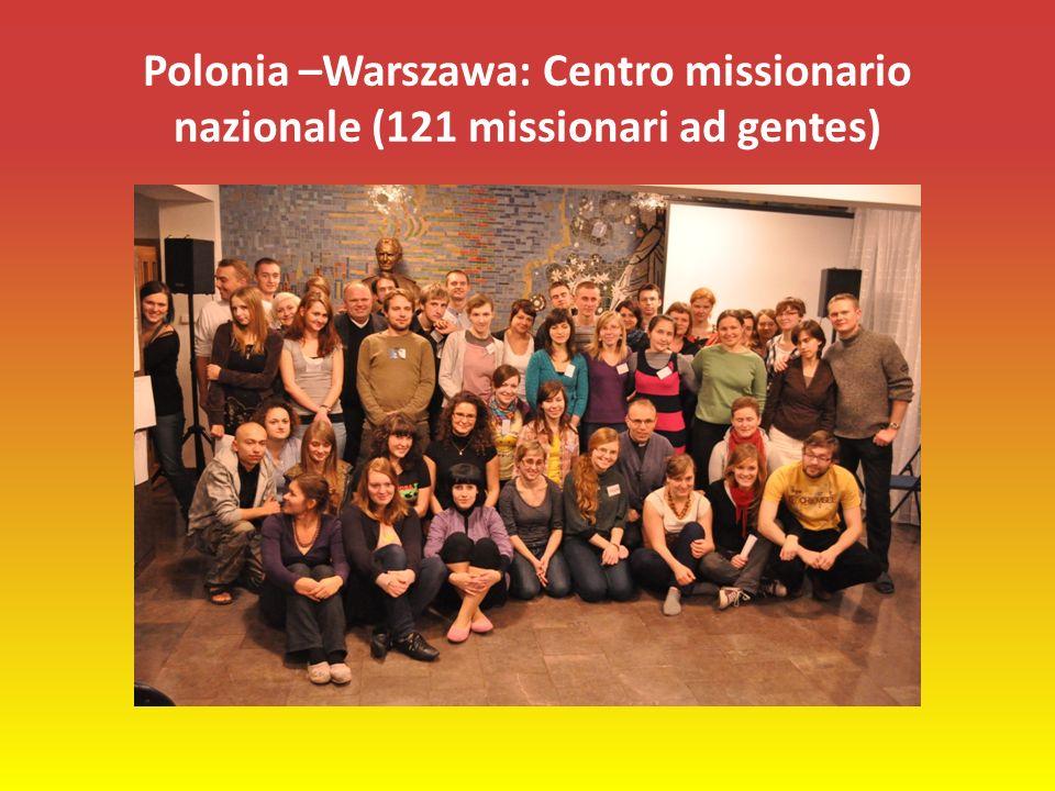 Polonia –Warszawa: Centro missionario nazionale (121 missionari ad gentes)