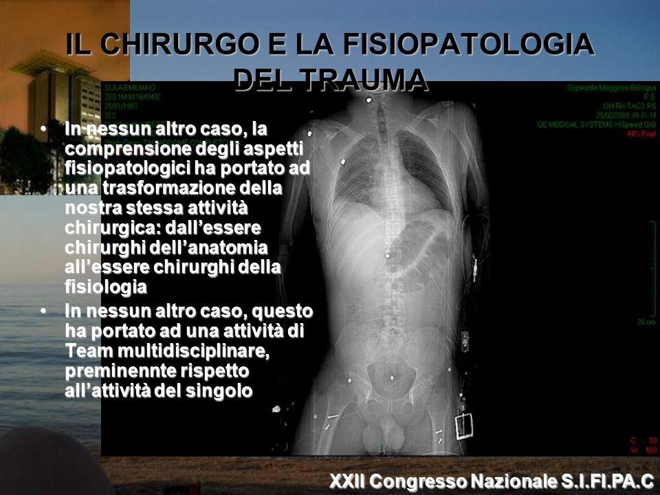 IL CHIRURGO E LA FISIOPATOLOGIA DEL TRAUMA In nessun altro caso, la comprensione degli aspetti fisiopatologici ha portato ad una trasformazione della