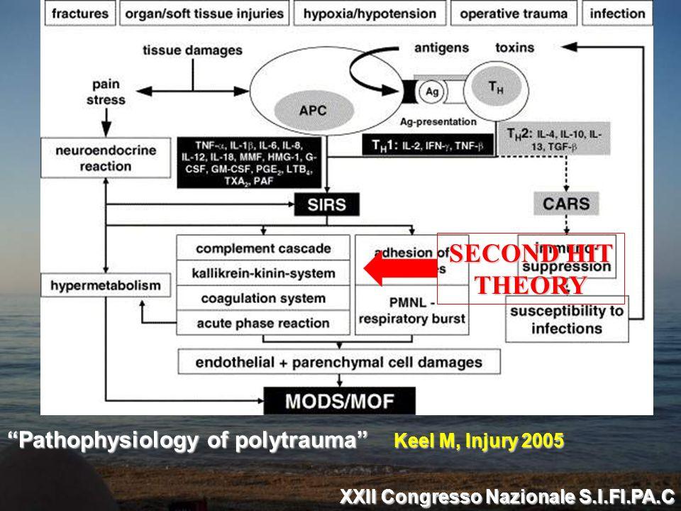 SECOND HIT THEORY Pathophysiology of polytrauma Keel M, Injury 2005 XXII Congresso Nazionale S.I.FI.PA.C