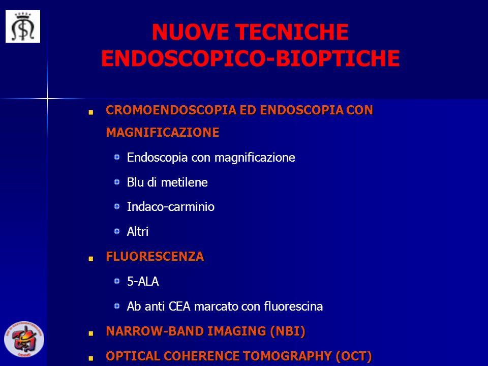 NUOVE TECNICHE ENDOSCOPICO-BIOPTICHE CROMOENDOSCOPIA ED ENDOSCOPIA CON MAGNIFICAZIONE Endoscopia con magnificazione Blu di metilene Indaco-carminio Al