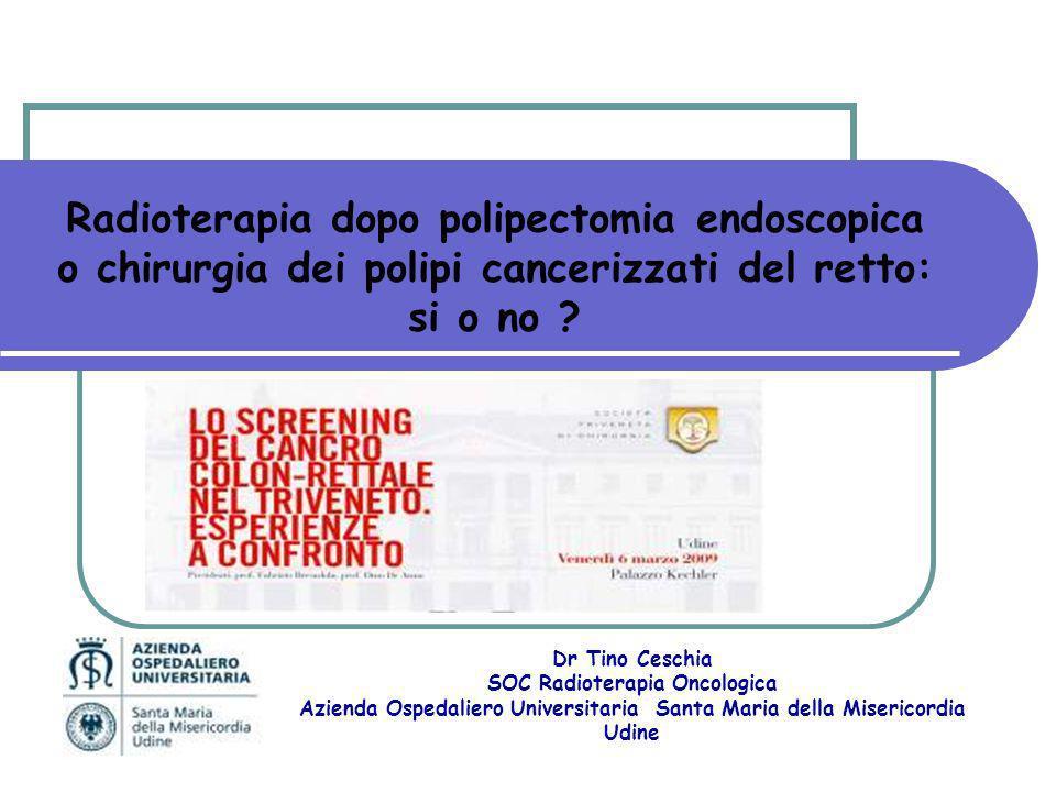 Escissione locale dopo chemioradioterapia Bonnen M et al. IJROBP 2004;60:1098–105