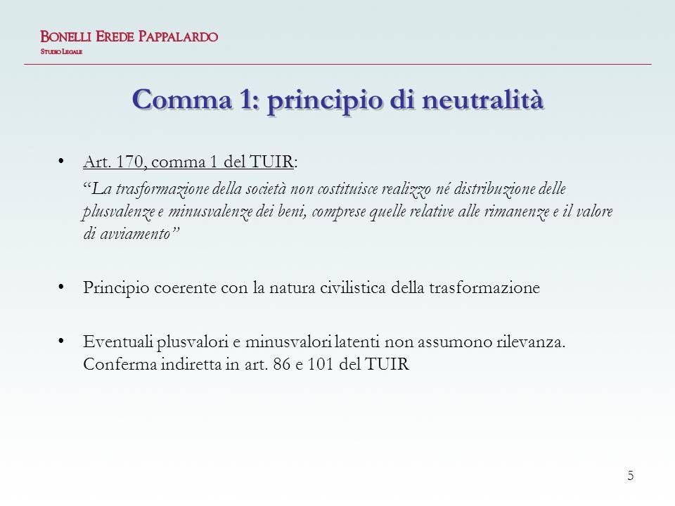 5 Comma 1: principio di neutralità Art.