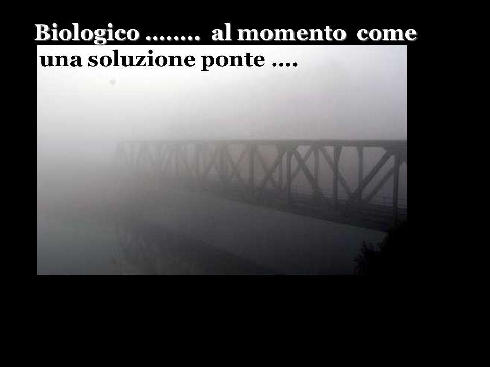 Biologico …….. al momento come una soluzione ponte ….