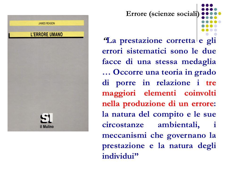 tre maggiori elementi coinvolti nella produzione di un erroreLa prestazione corretta e gli errori sistematici sono le due facce di una stessa medaglia