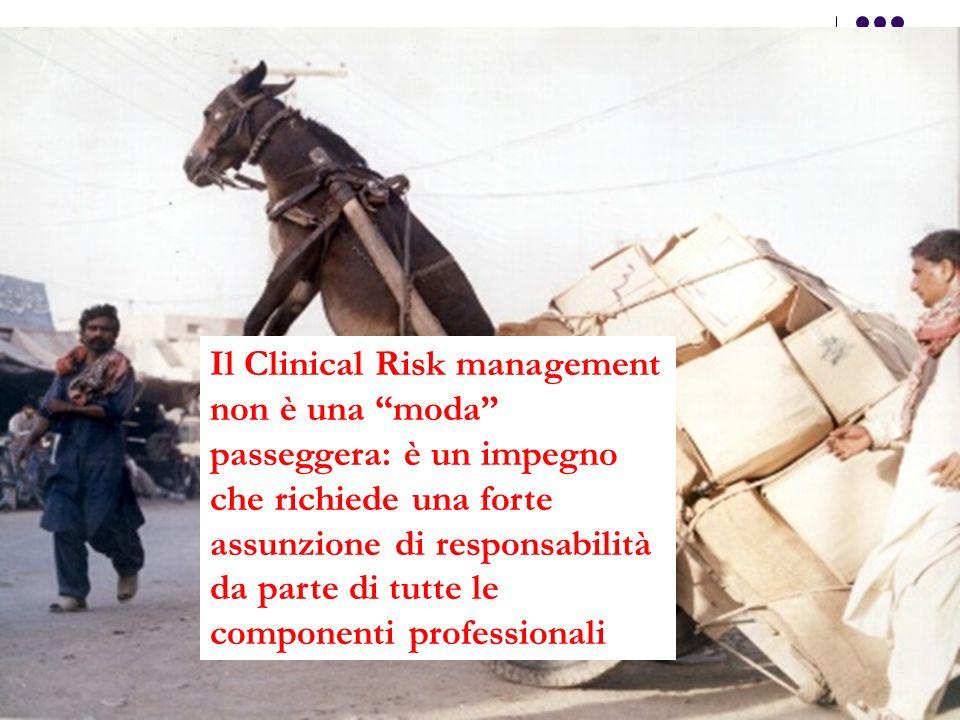 Il Clinical Risk management non è una moda passeggera: è un impegno che richiede una forte assunzione di responsabilità da parte di tutte le component