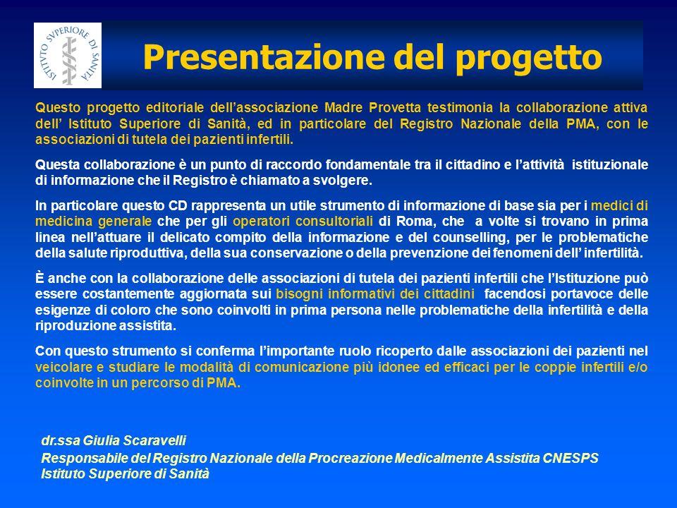 Presentazione del progetto Giulia Scaravelli, Monica Soldano Che cosè la fertilità, quando sono infertile.