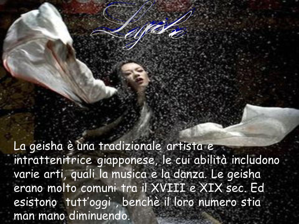La geisha è una tradizionale artista e intrattenitrice giapponese, le cui abilità includono varie arti, quali la musica e la danza. Le geisha erano mo