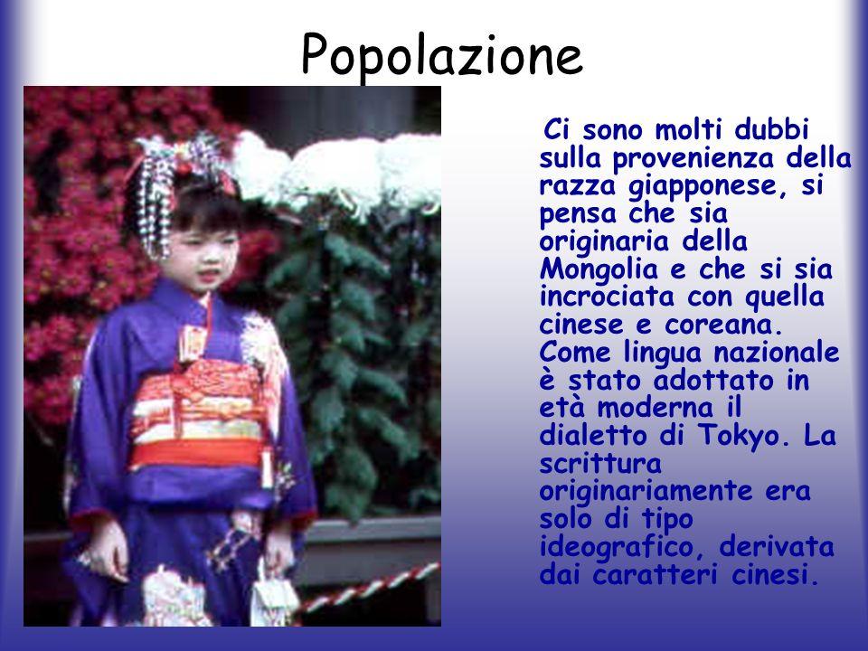 Popolazione Ci sono molti dubbi sulla provenienza della razza giapponese, si pensa che sia originaria della Mongolia e che si sia incrociata con quell