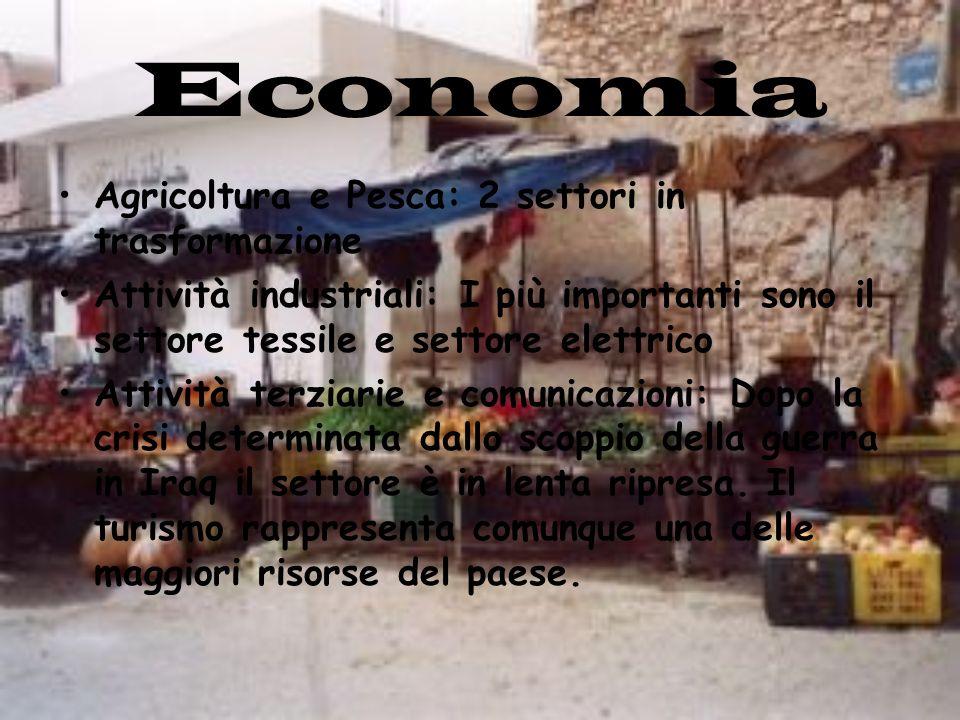 Economia Agricoltura e Pesca: 2 settori in trasformazione Attività industriali: I più importanti sono il settore tessile e settore elettrico Attività