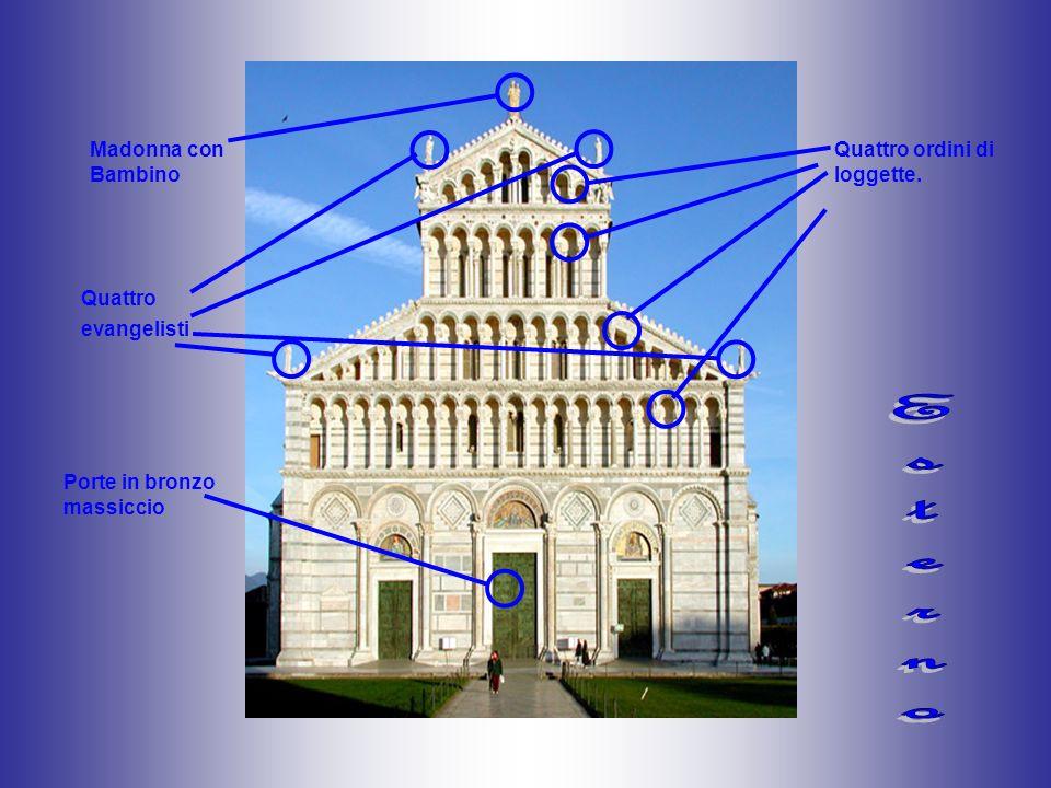 Quattro ordini di loggette. Porte in bronzo massiccio Madonna con Bambino Quattro evangelisti