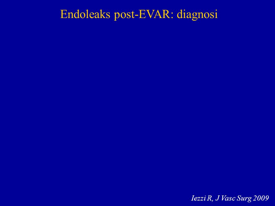 Endoleaks post-EVAR: diagnosi Iezzi R, J Vasc Surg 2009