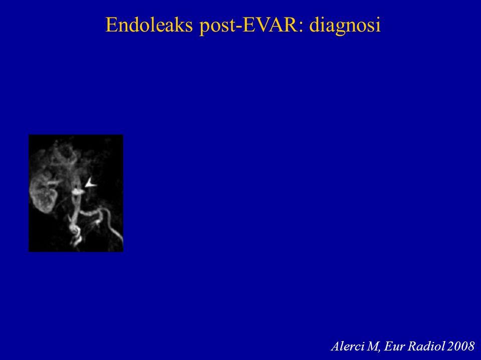 Endoleaks post-EVAR: diagnosi Alerci M, Eur Radiol 2008