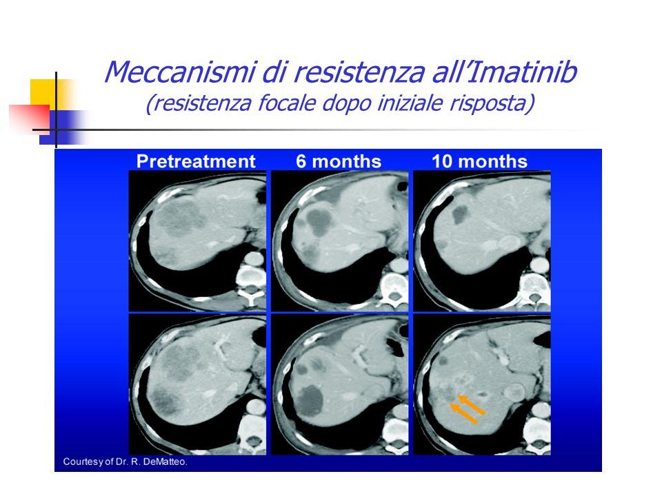 Meccanismi di resistenza allImatinib (resistenza focale dopo iniziale risposta)