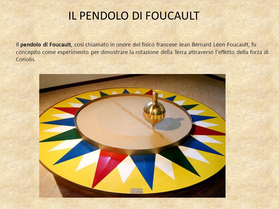 Il pendolo di Foucault, così chiamato in onore del fisico francese Jean Bernard Léon Foucault, fu concepito come esperimento per dimostrare la rotazio