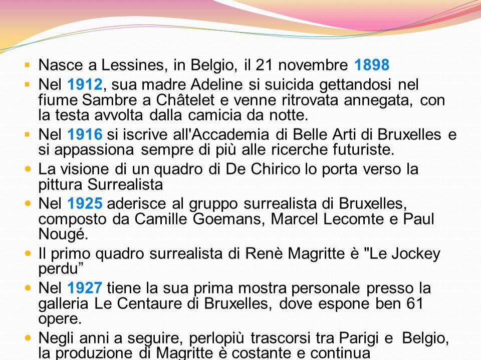 Nasce a Lessines, in Belgio, il 21 novembre 1898 Nel 1912, sua madre Adeline si suicida gettandosi nel fiume Sambre a Châtelet e venne ritrovata anneg