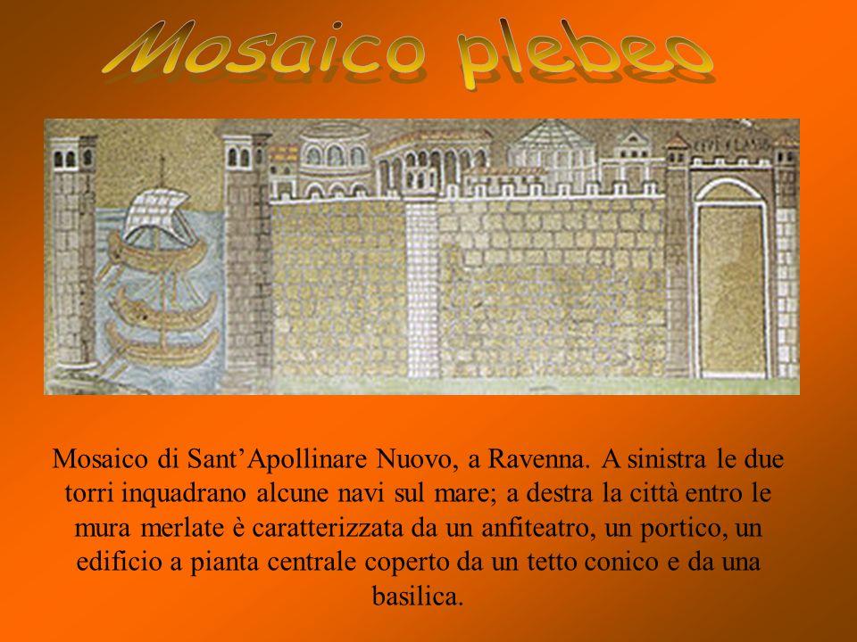 Mosaico risalente al 390 del catino absidale di Santa Pudenziana,rappresenta Cristo seduto sul trono,ai lati gli apostoli che insieme a San Paolo e Sa