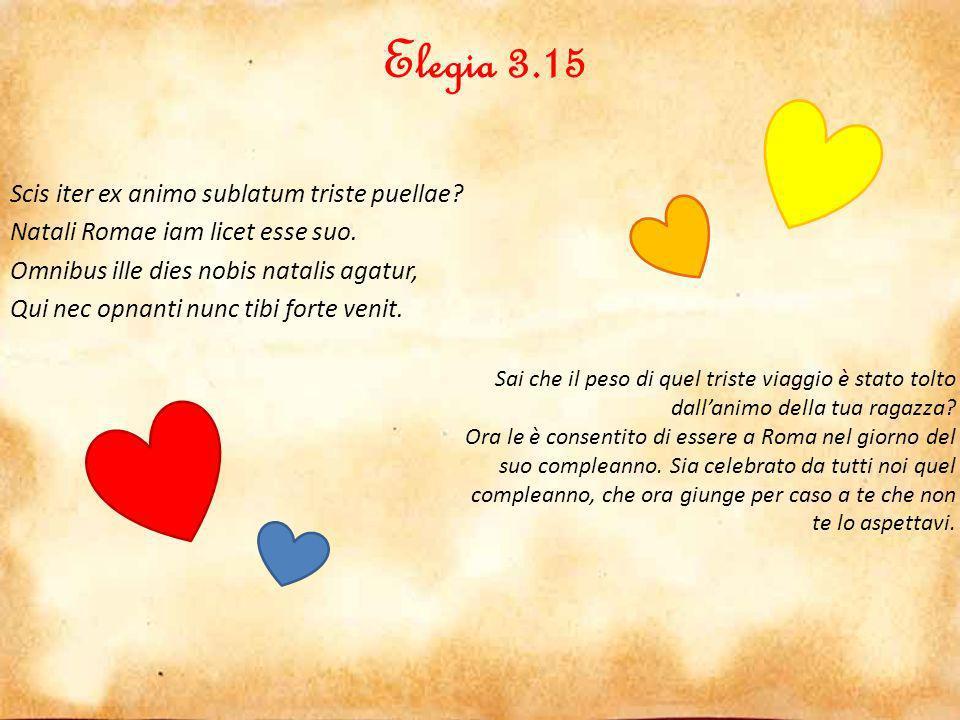Elegia 3.16 Gratum est, securus multum quod iam tibi de me Permittis, subito ne male inepta cadam.
