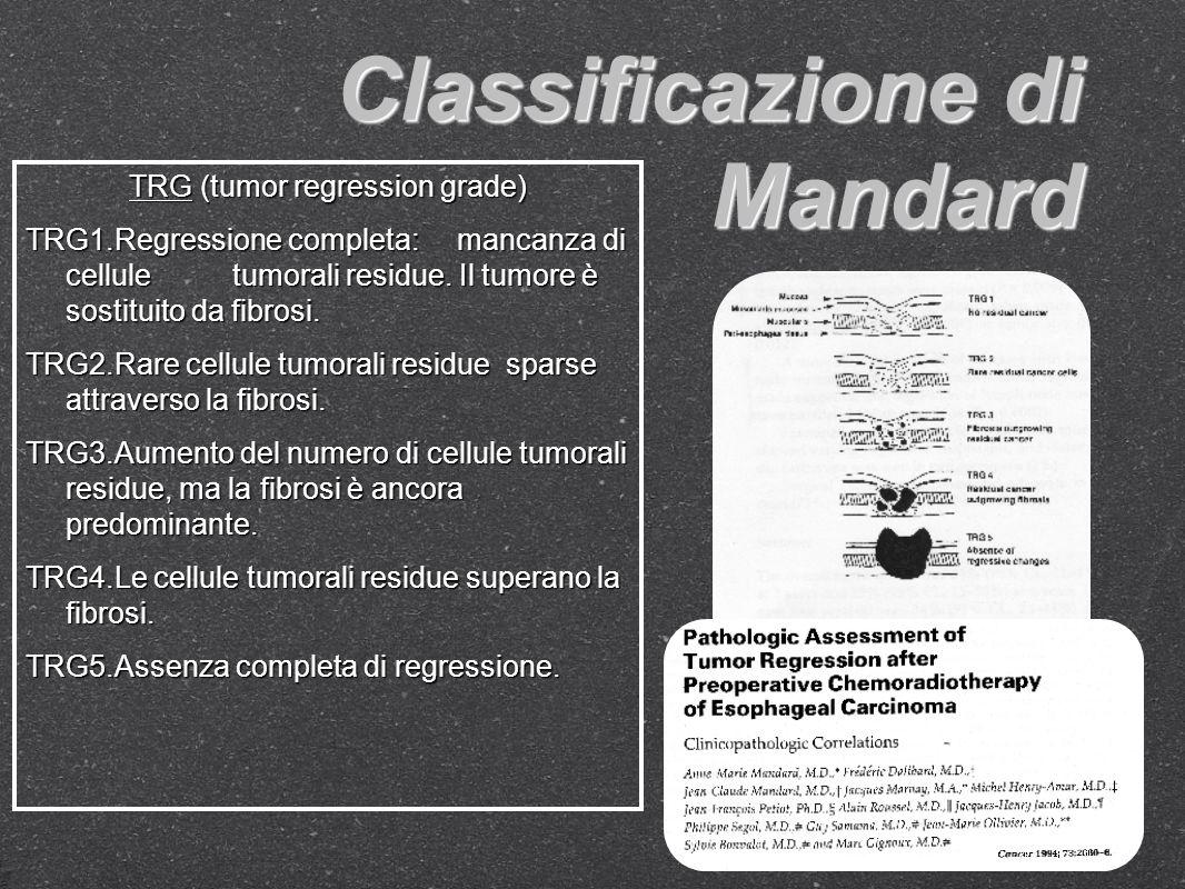 Rivalutare pazienti secondo Mandard e secondo una classificazione basata sulle dimensioni del tumore residuo