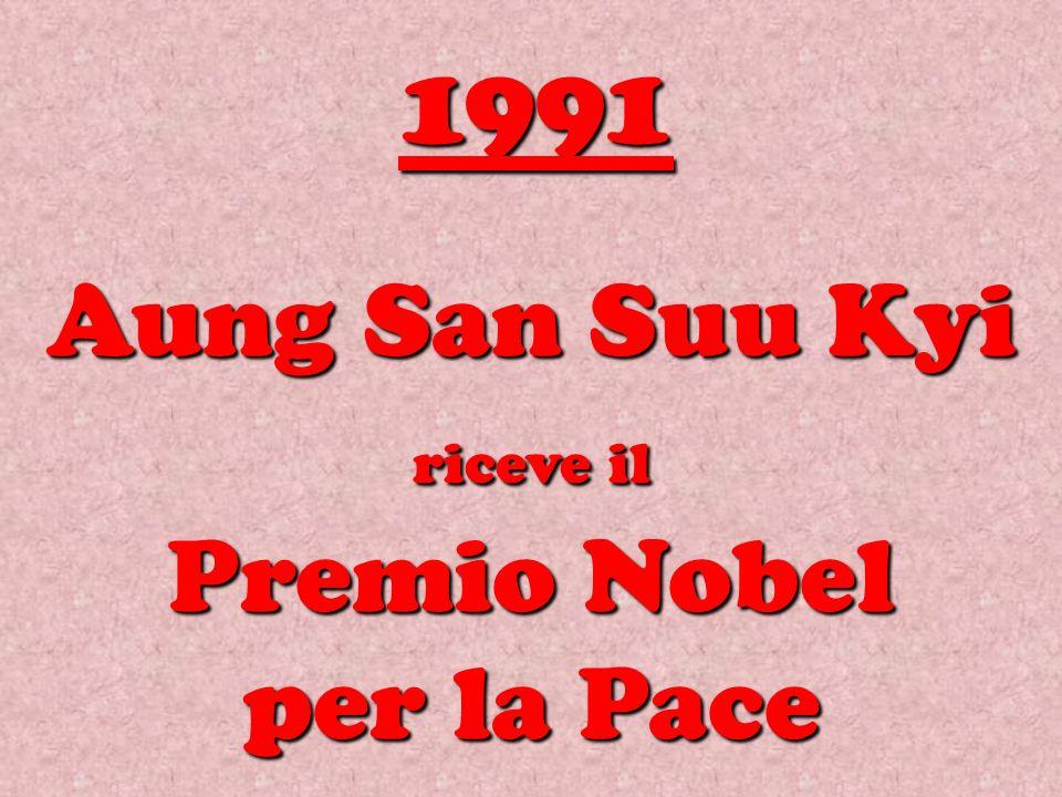 Aung San Suu Kyi riceve il Premio Nobel per la Pace 1991