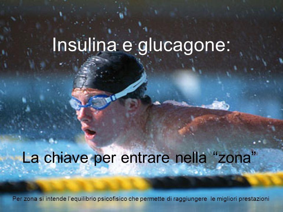 Insulina e glucagone: La chiave per entrare nella zona Per zona si intende lequilibrio psicofisico che permette di raggiungere le migliori prestazioni