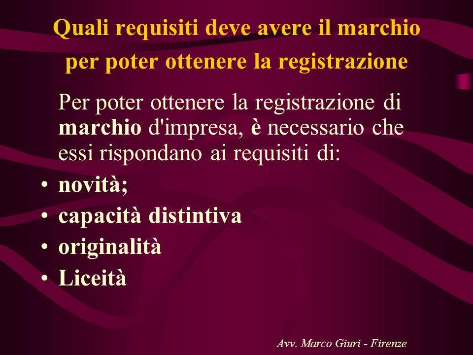 Quali requisiti deve avere il marchio per poter ottenere la registrazione Per poter ottenere la registrazione di marchio d'impresa, è necessario che e
