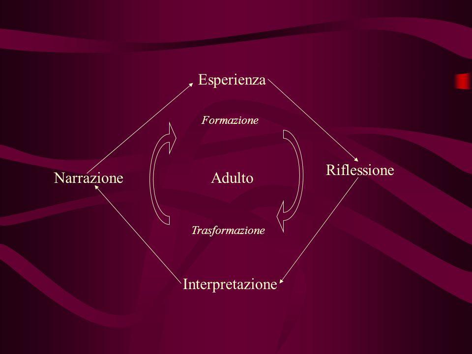 Adulto Formazione Trasformazione Esperienza Riflessione Interpretazione Narrazione