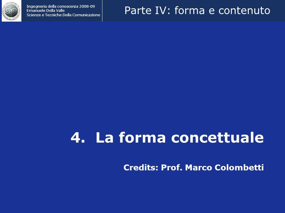 Ingegneria della conoscenza 2008-09 Emanuele Della Valle Scienze e Tecniche Della Comunicazione 4.