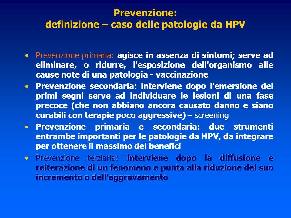Aspetti clinici Le donne sessualmente attive e le donne con pregressa o attuale citologia cervicale anormale o condilomi genitali possono ricevere il vaccino sulla base dell evidenza della protezione nei confronti dei genotipi di HPV vaccnali rimanenti.