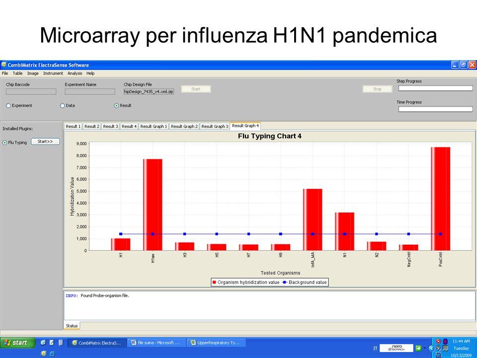 Microarray per influenza H1N1 pandemica
