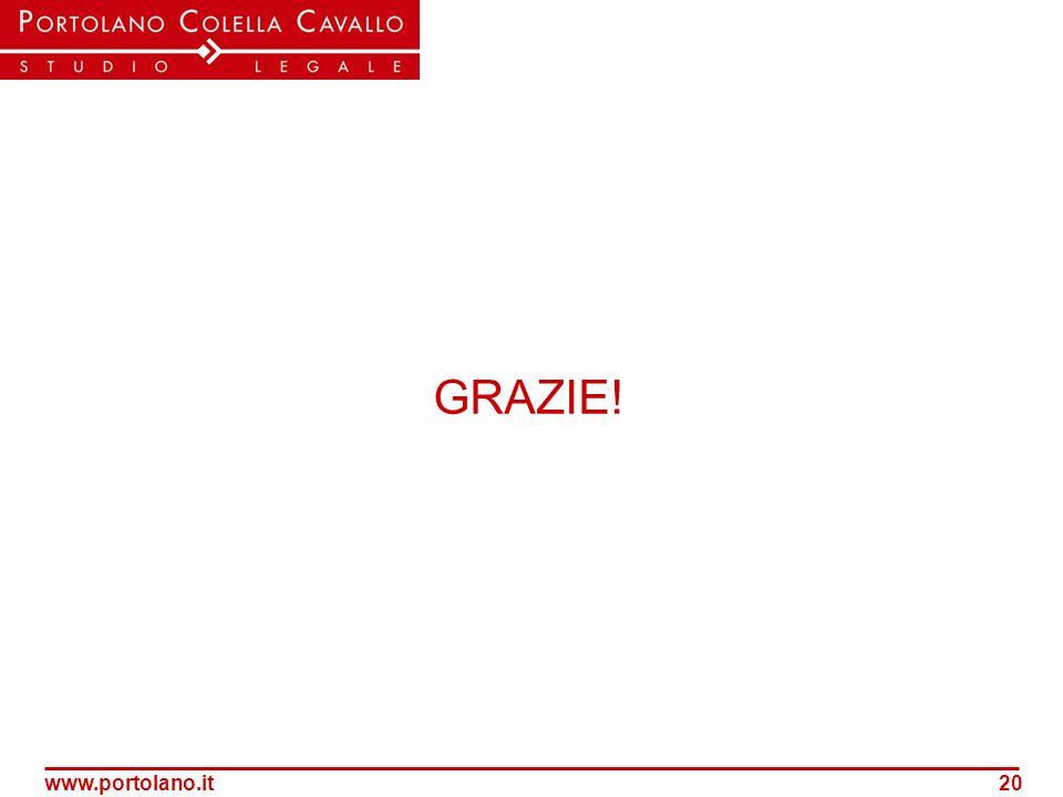 www.portolano.it20 GRAZIE!