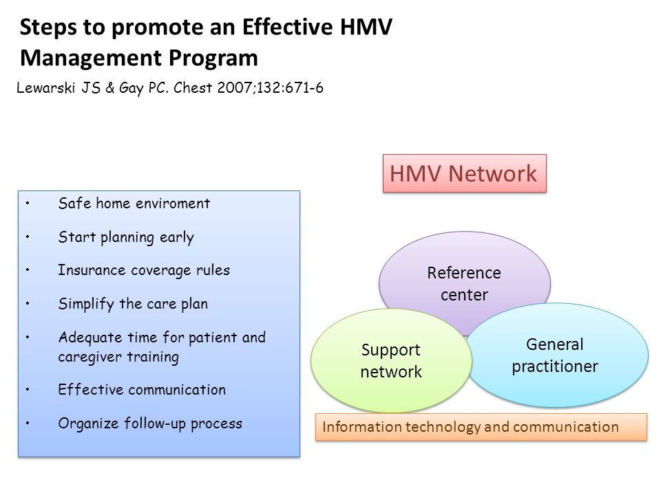 Steps to promote an Effective HMV Management Program Lewarski JS & Gay PC.