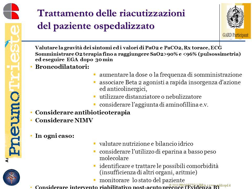 Azienda Ospedaliero-Universitaria Ospedali Riuniti di Trieste Struttura Complessa di Pneumologia Direttore: Dott. Marco Confalonieri Trattamento delle